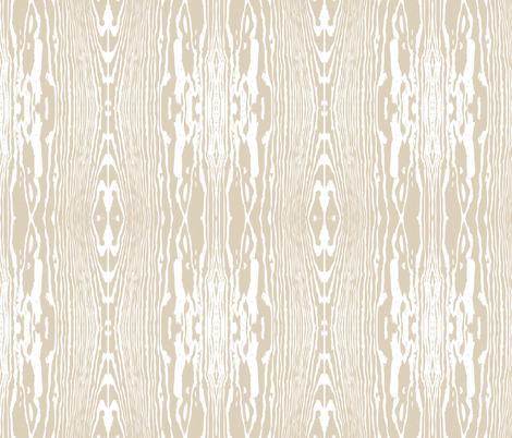 woodgrain_beige fabric by einekleinedesignstudio on Spoonflower - custom fabric