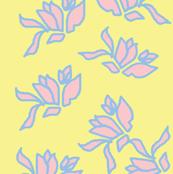 Genevieve's Window, Pinks on Summer Yellow