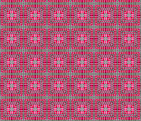 Tile-weave_bright_pink fabric by koalalady on Spoonflower - custom fabric