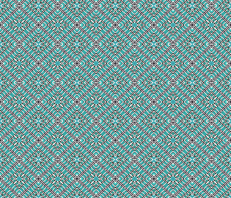 Tile weaving,light turquoise fabric by koalalady on Spoonflower - custom fabric