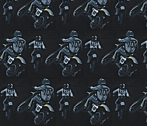 Motocross Racers Dirt Bikes fabric by winoart on Spoonflower - custom fabric
