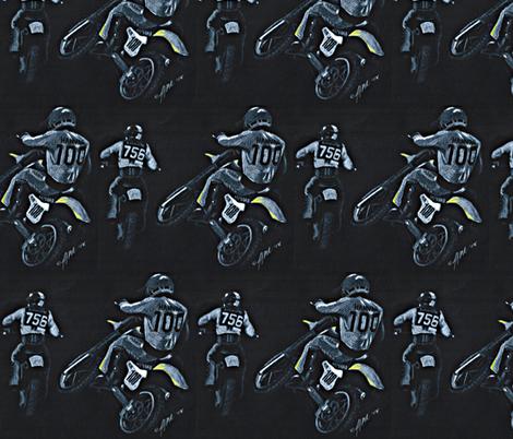 Motocross Racers Dirt Bikes fabric by winoart on Spoonflower - custom fabric