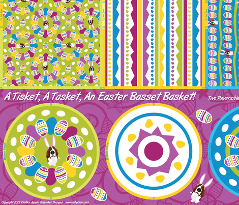 A Tisket, A Tasket, An Easter Basset Basket! fabric by robyriker on Spoonflower - custom fabric