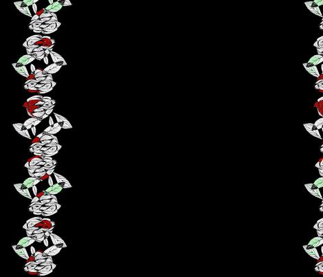 Retro Lone Rose fabric by missmorice on Spoonflower - custom fabric
