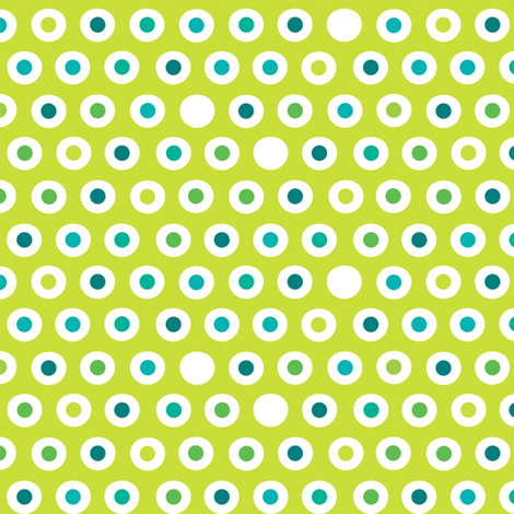 Spoon Polka Green fabric by spellstone on Spoonflower - custom fabric