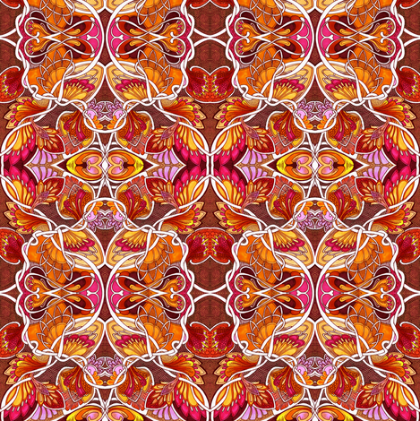 Fire on the Mountain fabric by edsel2084 on Spoonflower - custom fabric