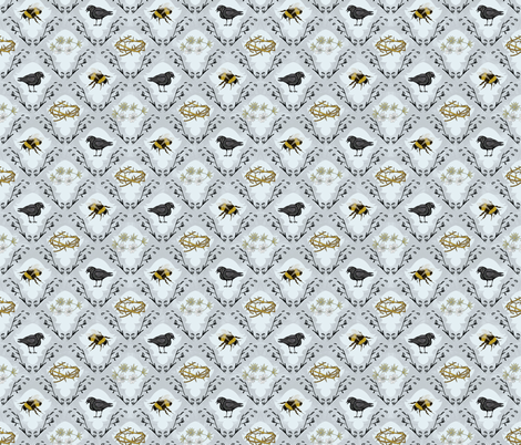 the birds and the bees fabric by youngcaptive on Spoonflower - custom fabric