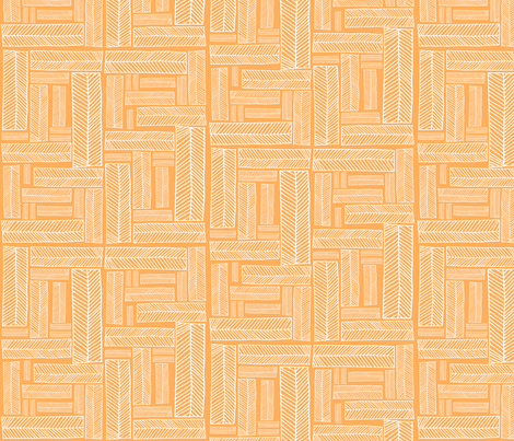 boxes.creamsicle fabric by rachaelanndesign on Spoonflower - custom fabric