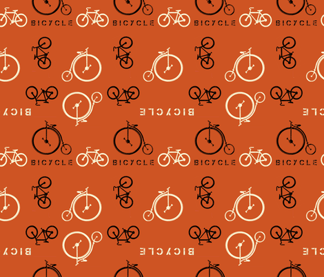 bicycle bicycle fabric by diane_gilbert on Spoonflower - custom fabric