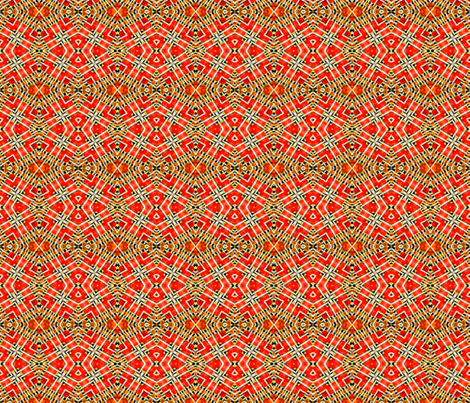 Tile-weave orange fabric by koalalady on Spoonflower - custom fabric