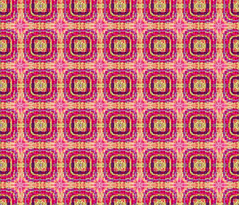 Tile weave pink fuschia fabric by koalalady on Spoonflower - custom fabric