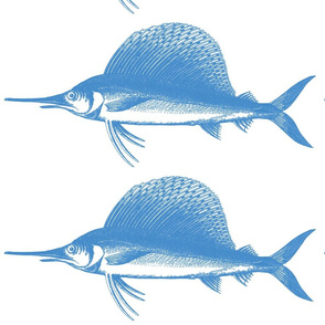 Big Blue Marlin!! (deep sea blue & white)