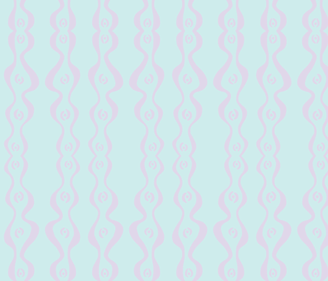 wiggly ripple stripe (light aqua & lilac) fabric by pattyryboltdesigns on Spoonflower - custom fabric