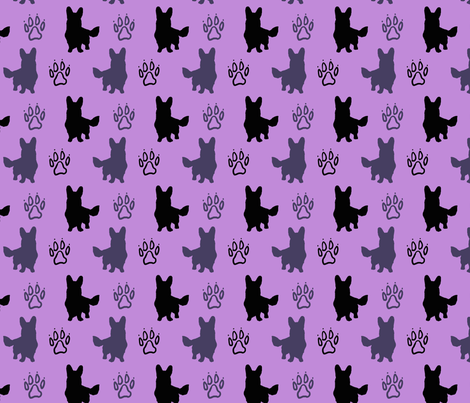 Cardigan shadows - purple