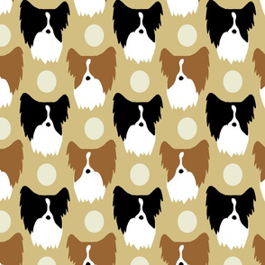 Simple color Papillon faces - tan