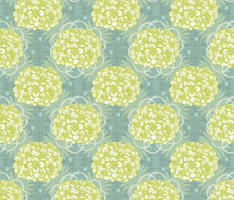 Fresh Hydrangea fabric by brainsarepretty on Spoonflower - custom fabric