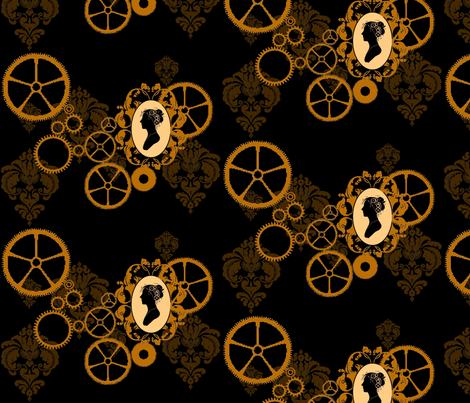 Gears_of_More fabric by jeritheartist on Spoonflower - custom fabric