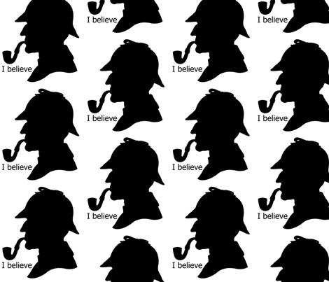 I believe in Sherlock fabric by twoboos on Spoonflower - custom fabric