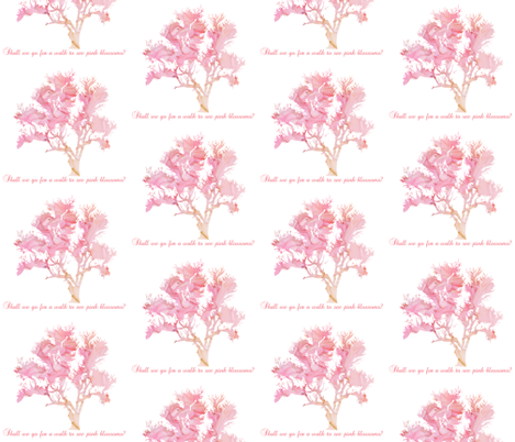 Lovely Pink Blossoms fabric by karenharveycox on Spoonflower - custom fabric