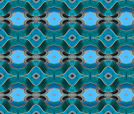Blue Guitar fabric by koalalady on Spoonflower - custom fabric