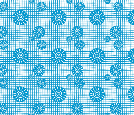 GeoPlaidTQ fabric by yellowstudio on Spoonflower - custom fabric