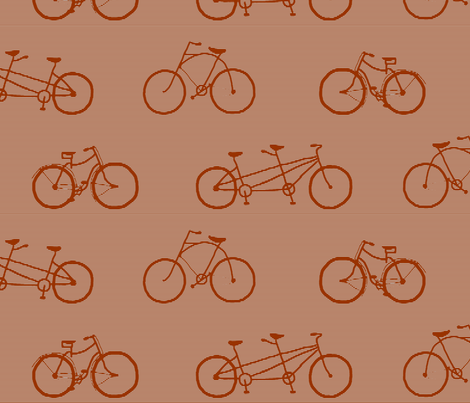 bicycle_shadow_stripe_bown_on_gray fabric by victorialasher on Spoonflower - custom fabric