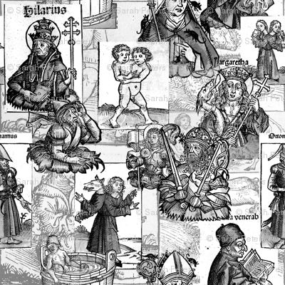 Nuremberg Chronicles Grayscale