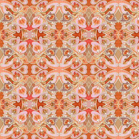 Serenade in Peach fabric by edsel2084 on Spoonflower - custom fabric