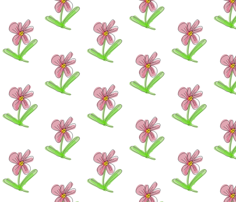 FLOWER fabric by mammajamma on Spoonflower - custom fabric