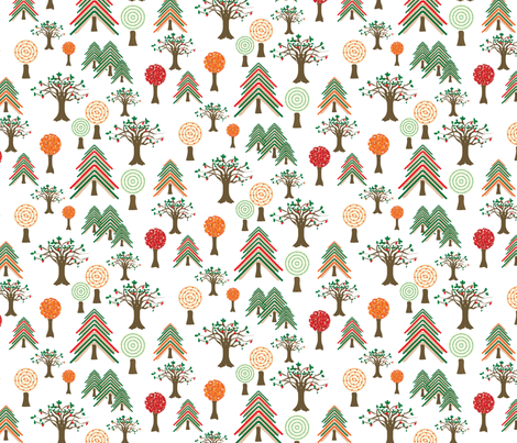 forest-of-books fabric by upcyclepatch on Spoonflower - custom fabric