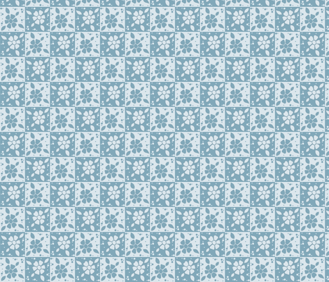 Paisley blue flowers fabric by alyson_chase on Spoonflower - custom fabric