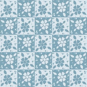 Paisley blue flowers