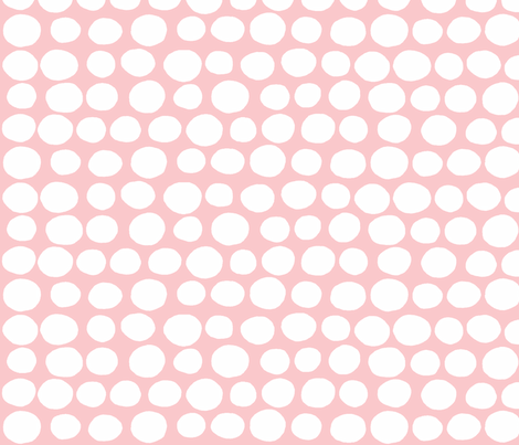 Wobbly Peas (white & pink) fabric by pattyryboltdesigns on Spoonflower - custom fabric
