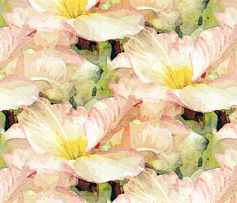 pale pink primrose fabric by vib on Spoonflower - custom fabric