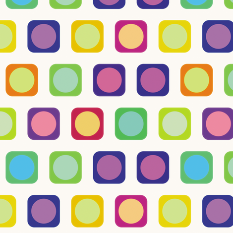 Circle Squares 2, S fabric by animotaxis on Spoonflower - custom fabric