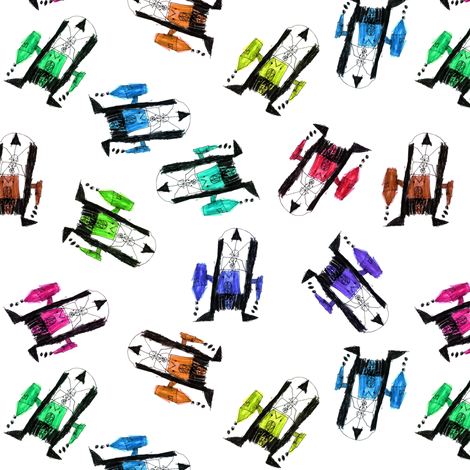 bubbie's robots fabric by weavingmajor on Spoonflower - custom fabric