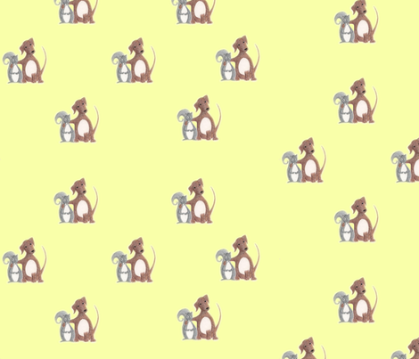 Misfit Friends-Dog & Squirrel fabric by innocence on Spoonflower - custom fabric