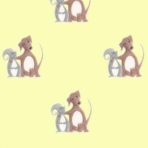 Misfit Friends-Dog & Squirrel