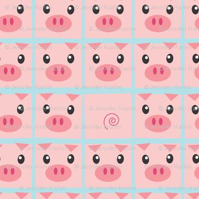 Piggy Delight in Blue
