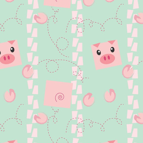 Dancing Pigs on Mint