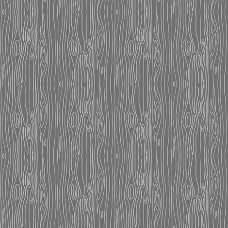 Wonky Woodgrain - grey - teeny tiny fabric by jesseesuem on Spoonflower - custom fabric
