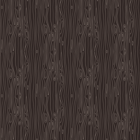 Wonky Woodgrain - brown - teeny tiny