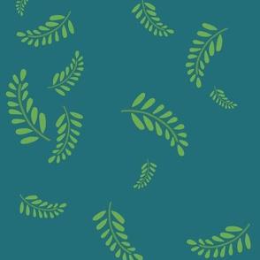 Tumbling Ferns Turquoise