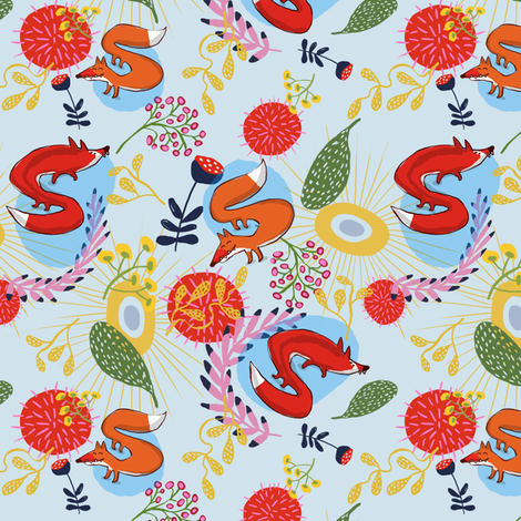 Foxy fabric by annelouise on Spoonflower - custom fabric