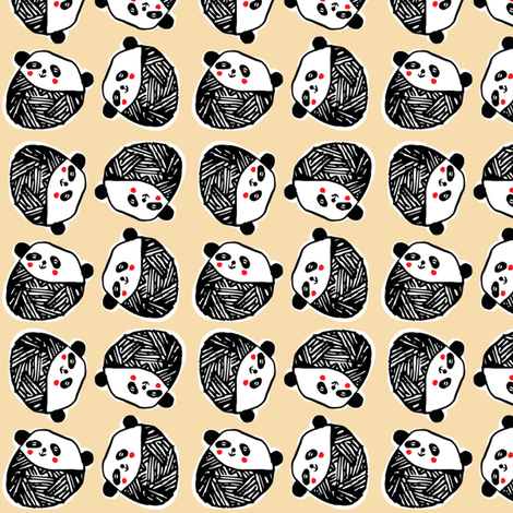 Napping_pandas fabric by annelouise on Spoonflower - custom fabric