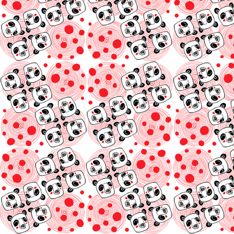 Psychedelic_pandas fabric by annelouise on Spoonflower - custom fabric