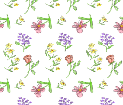 Free-Form Bouquet fabric by mammajamma on Spoonflower - custom fabric
