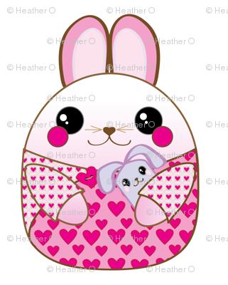 Pink Bunny Pillow