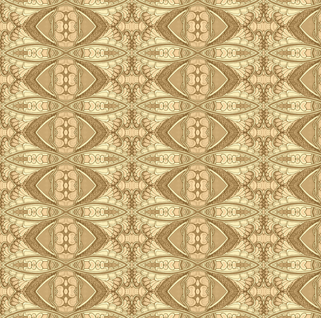 Bubble Wing Thing (tan) fabric by edsel2084 on Spoonflower - custom fabric
