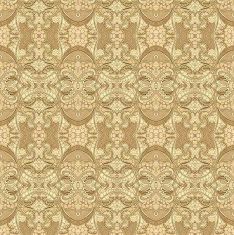It's a Sepia toned 1880's World fabric by edsel2084 on Spoonflower - custom fabric